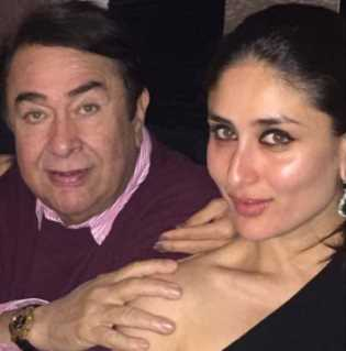 Kareena Kapoor with her fahter