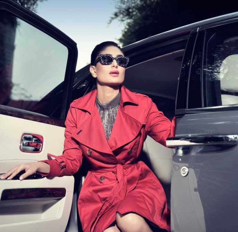 Kareena Kapoor with Car Photo