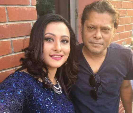 Nagarbaul James with Purnima