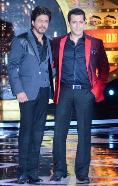 Shah Rukh Khan with Salman Khan