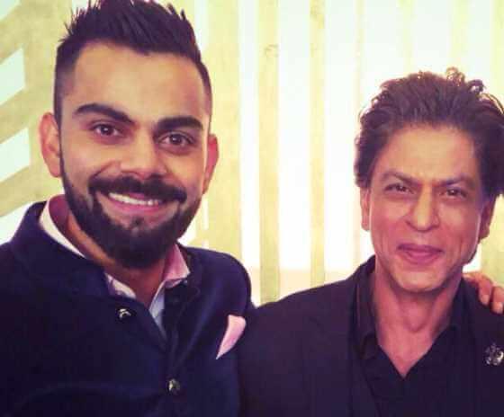 Shah Rukh Khan with Virat Kohli