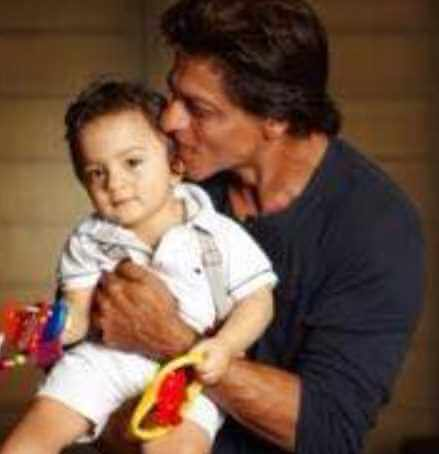 Shah Rukh Khan with his 2nd Son