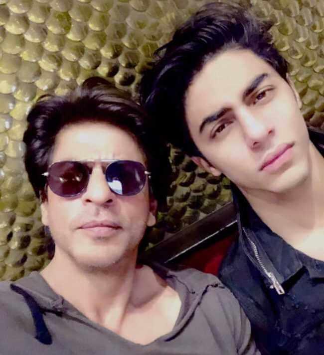 Shah Rukh Khan with his son