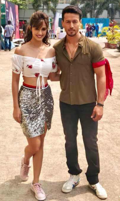 Disha Patani with Tiger Shroff