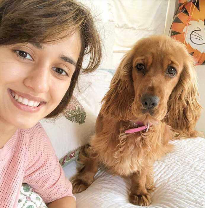 Disha Patani with her Dog
