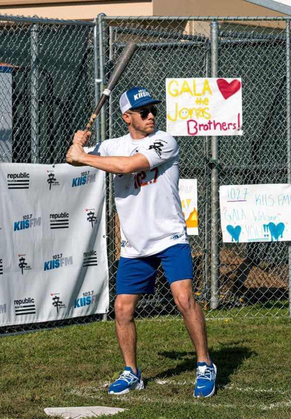 Nick Jonas with Baseball Picture