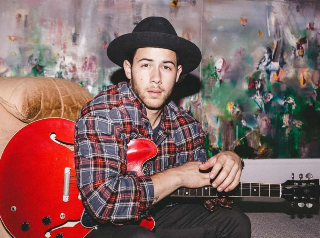 Nick Jonas with Guitar Picture