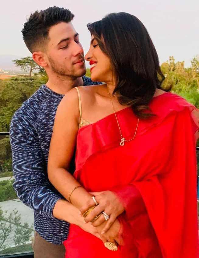 Nick Jonas with his Wife