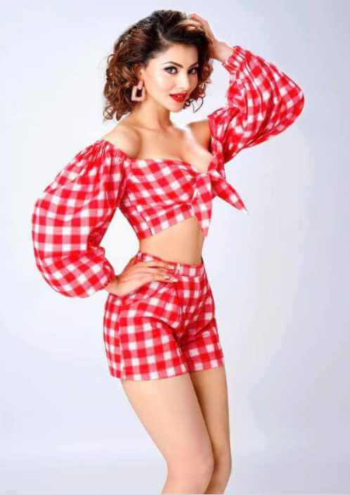 Urvashi Rautela Red color dress Image