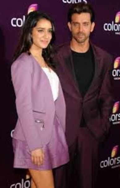 Shraddha Kapoor with Hrithik Roshan
