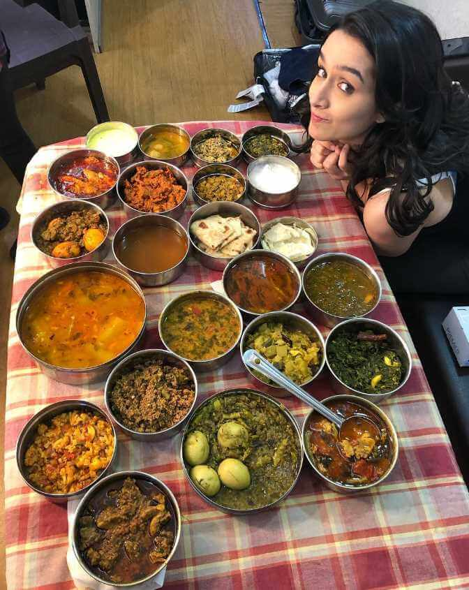 Shraddha Kapoor with foods