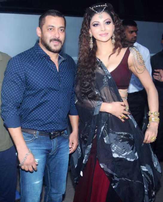 Urvashi Rautela with Salman Khan