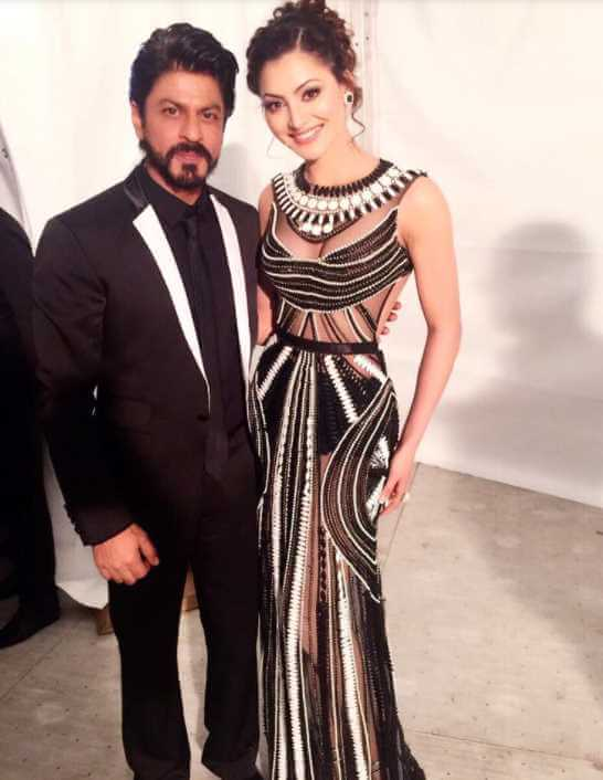 Urvashi Rautela with Shah Rukh Khan