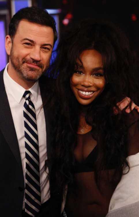 SZA with Jimmy Kimmel