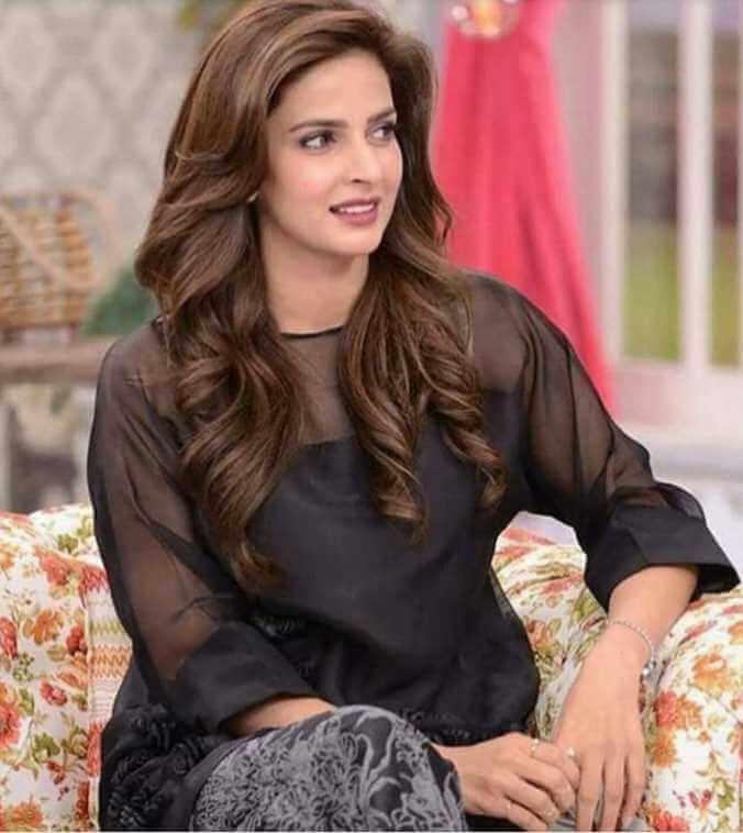 Saba Qamar Black dress Image