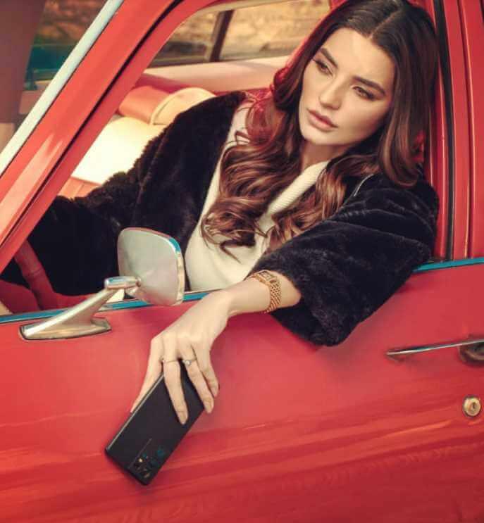 Sadia Khan with Car Photo