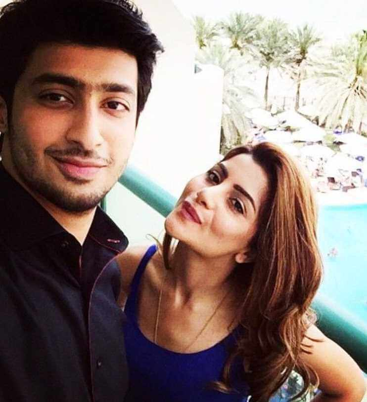 Sohai Ali Abro with her Brother