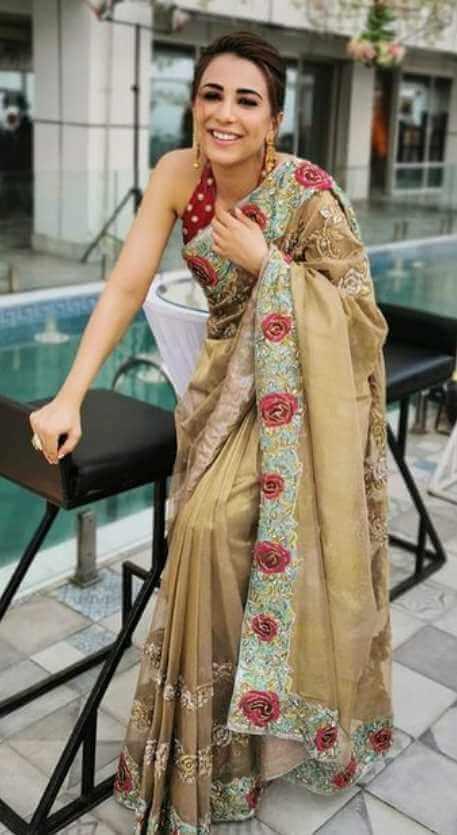 Ushna Shah Saree Image