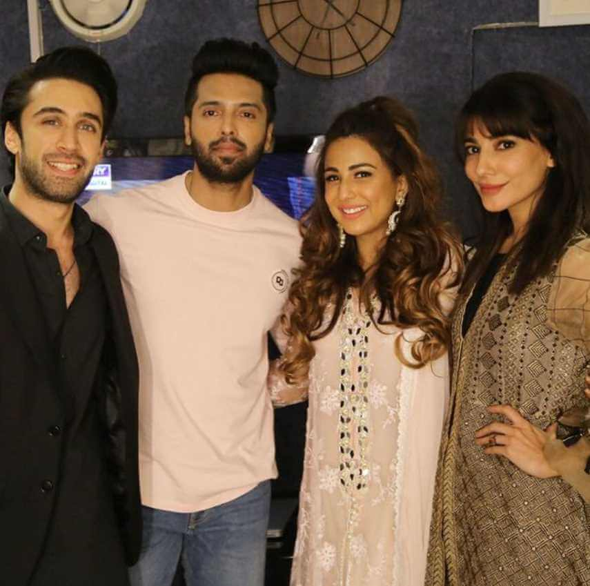 Ushna Shah with her Co-artist