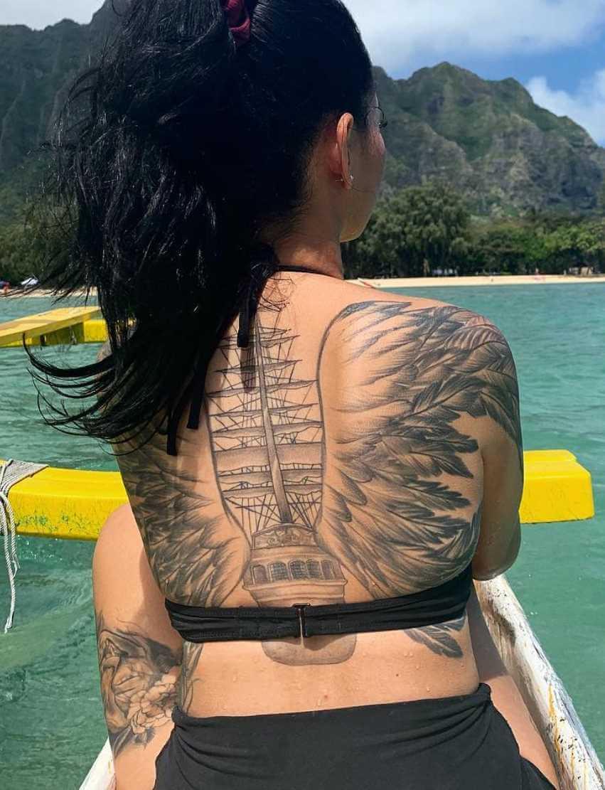Bella Poarch Back Side Tattoo