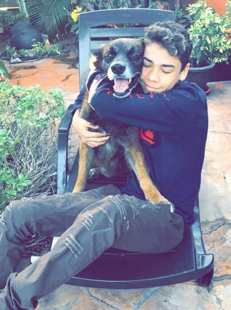 Jayden Croes with his Dog Image
