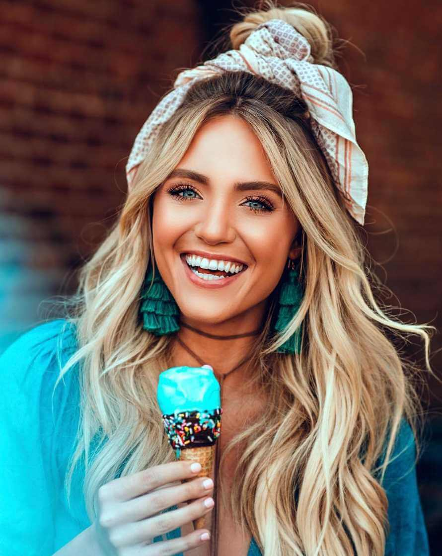 Savannah LaBrant Eating Ice Cream Image
