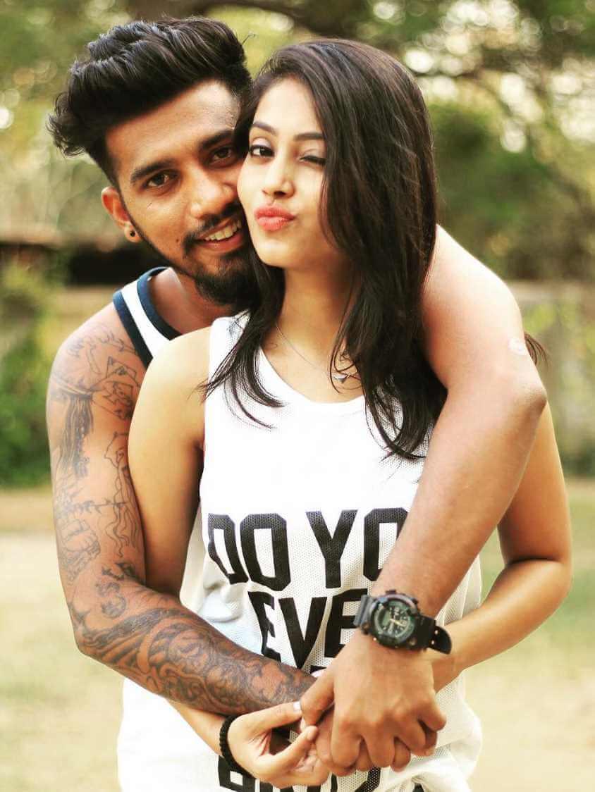 Kajal Jadhav with her Boyfriend Vikrant Patil Photo
