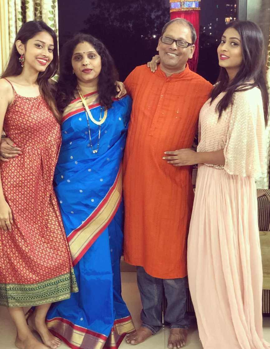 Kajal Jadhav with her Family Photo